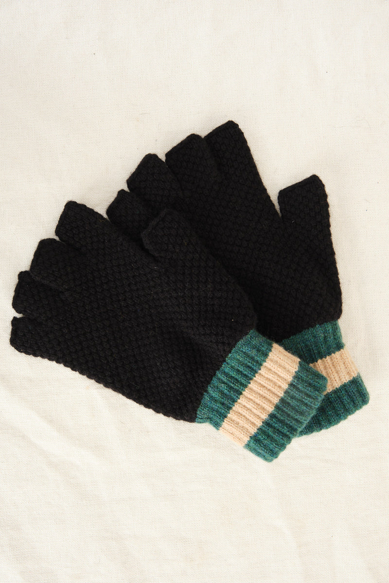 lambswool fingerless gloves Jo Gordon