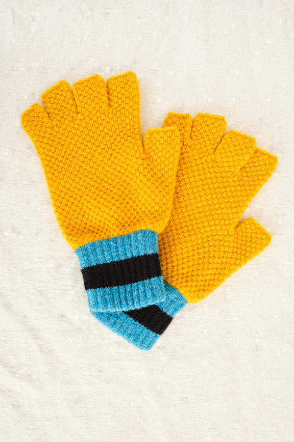 Jo Gordon fingerless gloves in golden eye
