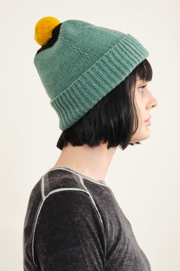 Jo Gordon top spot pompom hat in strath