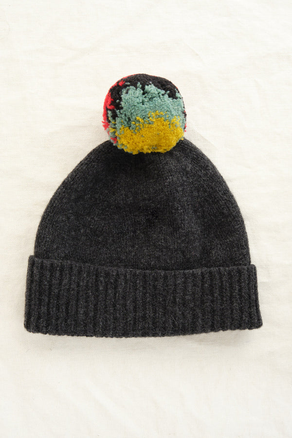 Jo Gordon shaggy pompom hat