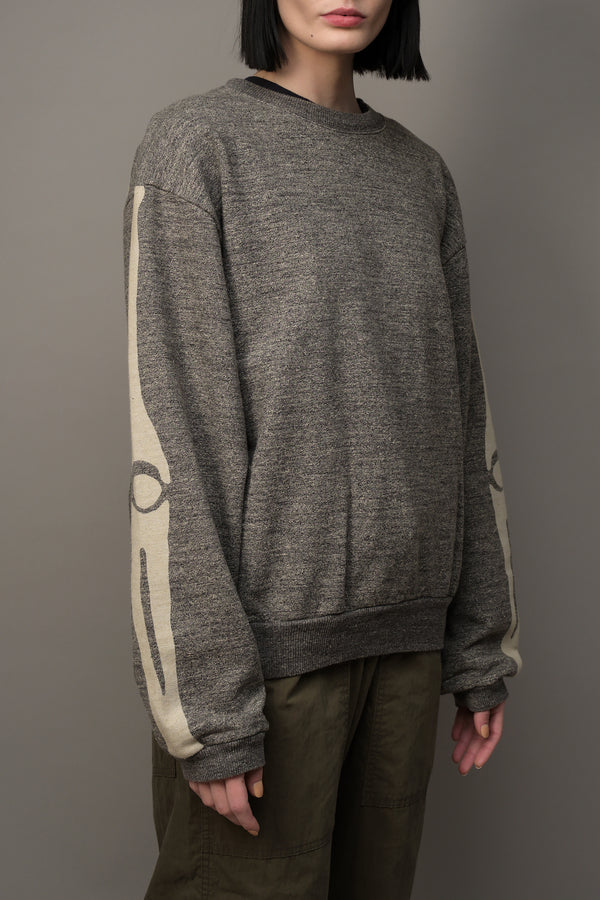 (Bone) Grandrelle Fleece Knit BIG Crew Kapital