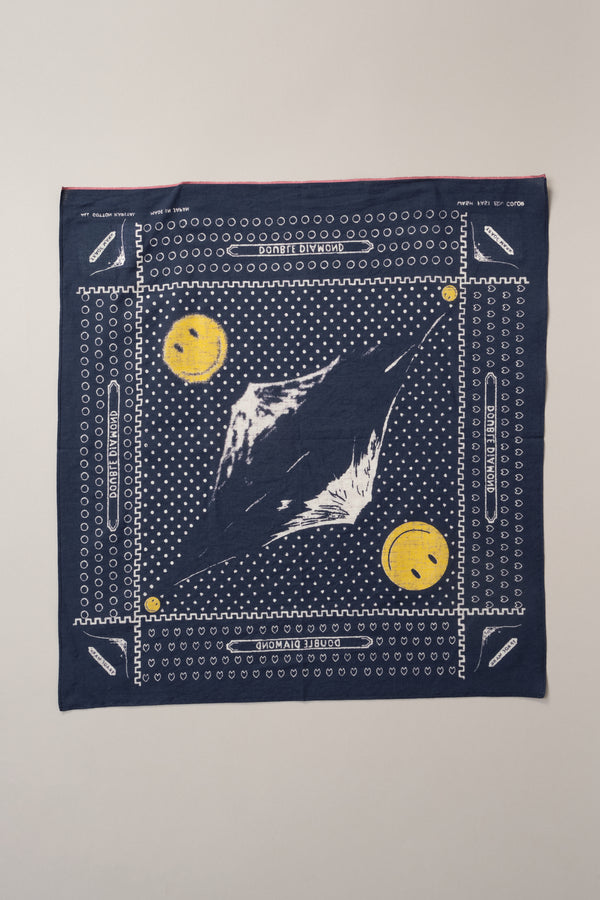 Kapital Mirrored Fuji Smile Fastcolor Selvedge Bandana