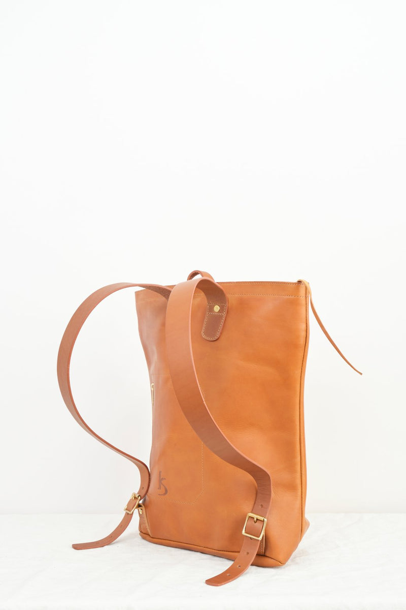 kika Ny Large Leather Harvest Backpack