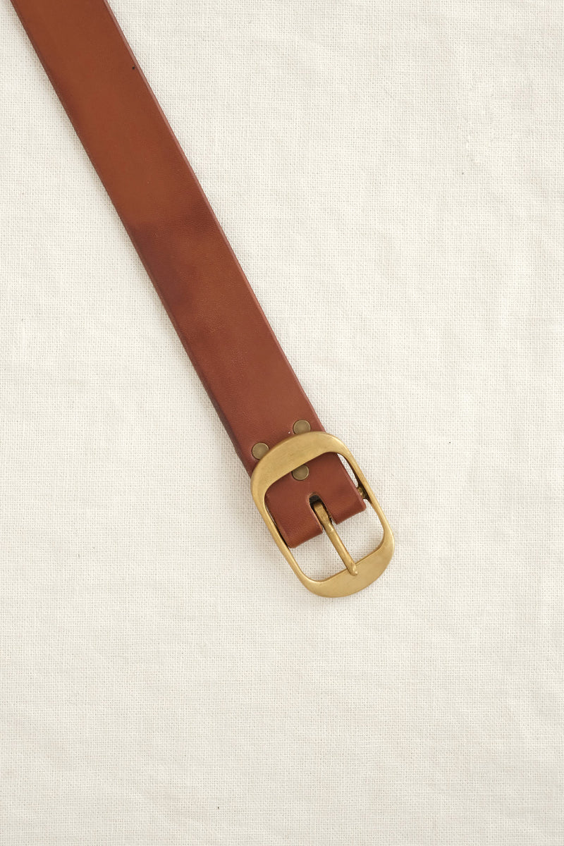 oval leather belt KikaNY