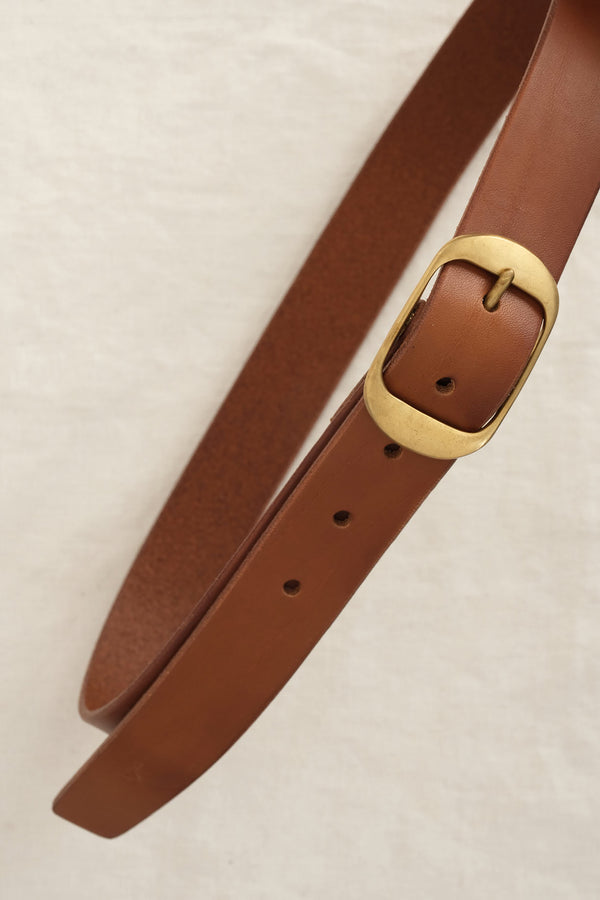 KikaNY oval leather belt