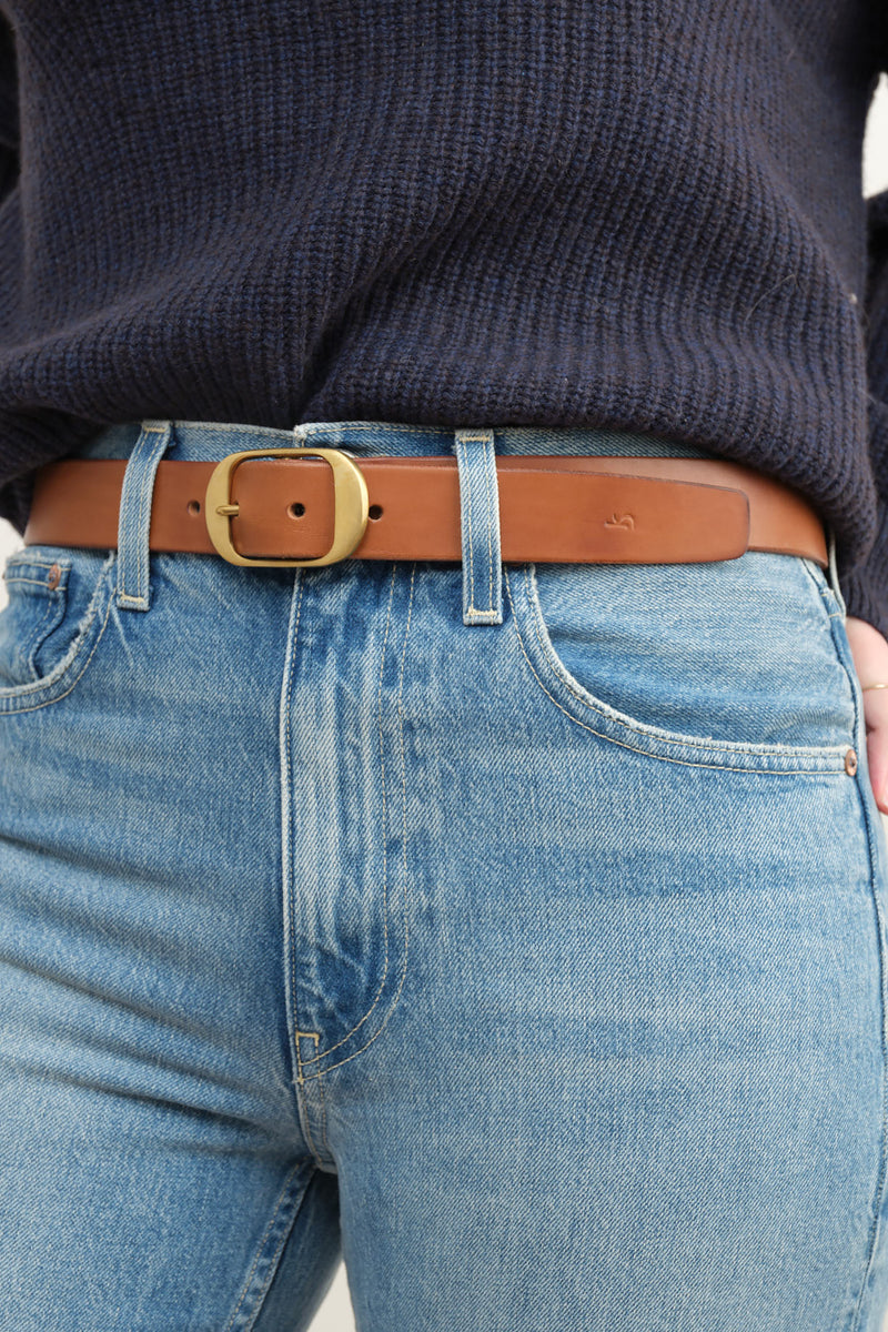 tan oval belt kikany
