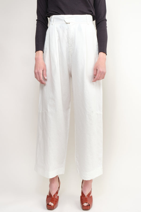 Kristensen du Nord Cotton Linen Pants in Natural