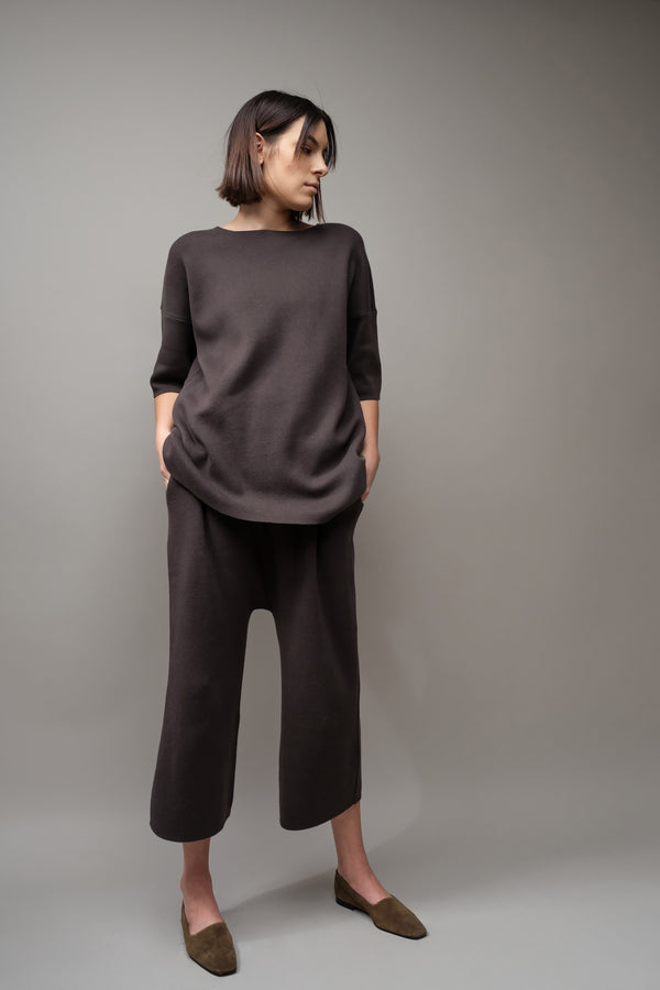 Lauren Manoogian Interlock Peg Pants in Carbon