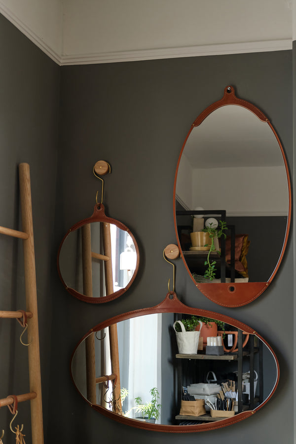 Lostine fairmount long oval mirror