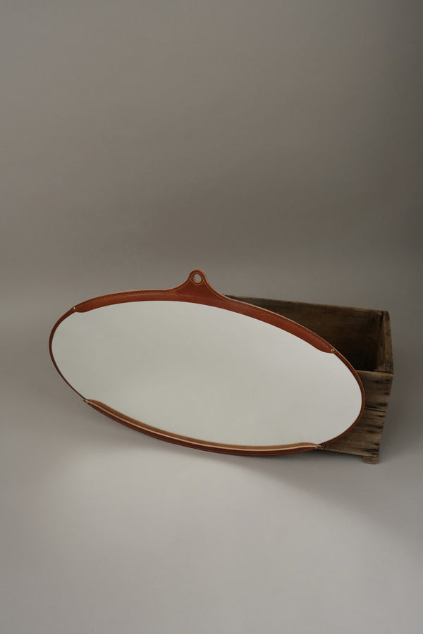 Lostine fairmount wide oval mirror
