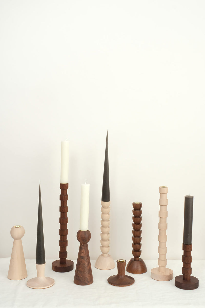 Lostine wooden candle holders