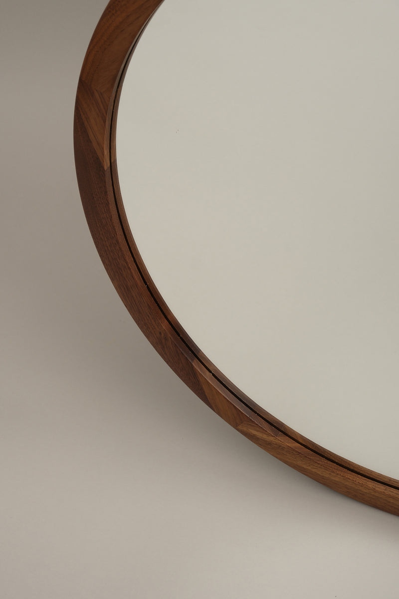 walnut bathroom mirror Lostine