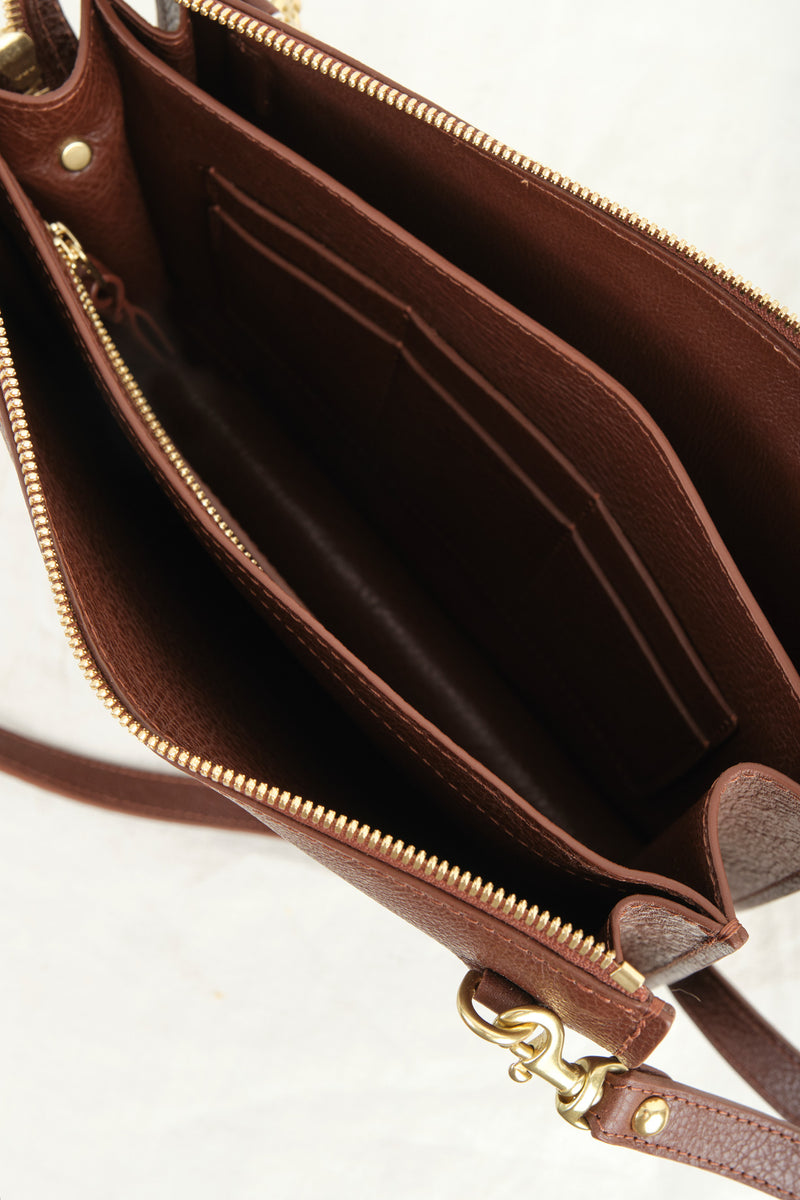 Lotuff Brown Leather Purse
