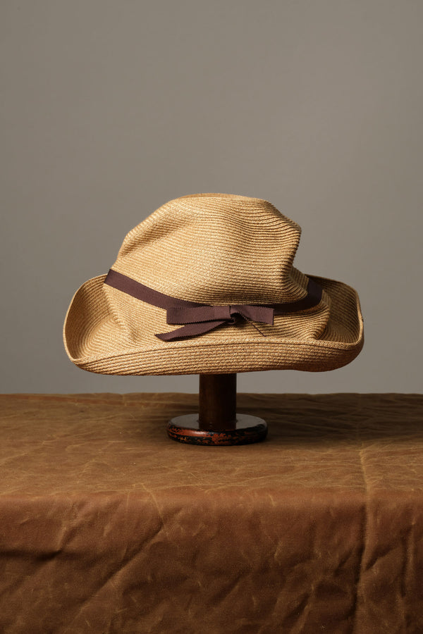 Boxed Hat with Grosgrain Ribbon mature ha