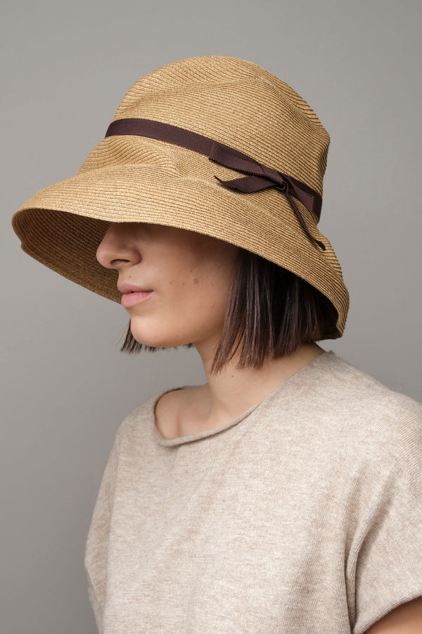 mature ha Boxed Hat with Grosgrain Ribbon