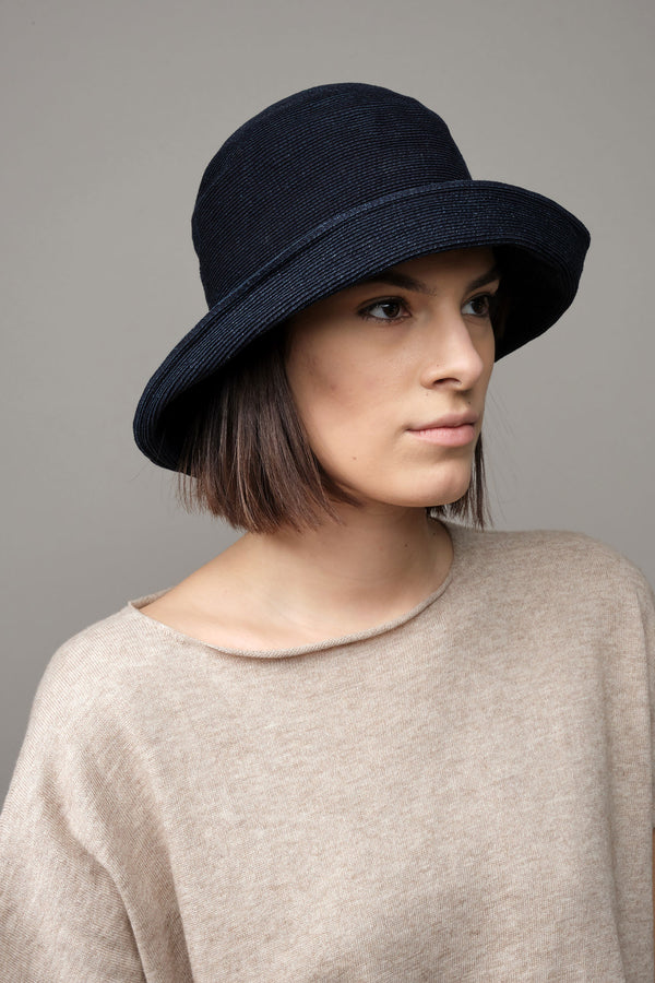 Wide Paper Linen Braid Hat mature ha