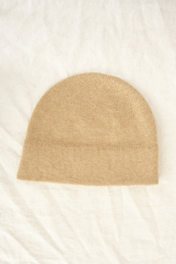 camel slant cutting knit cap Mature Ha.