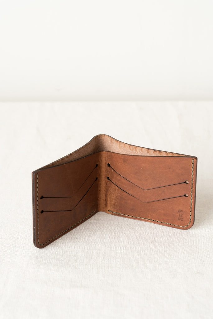 Tobacco Leather Billfold