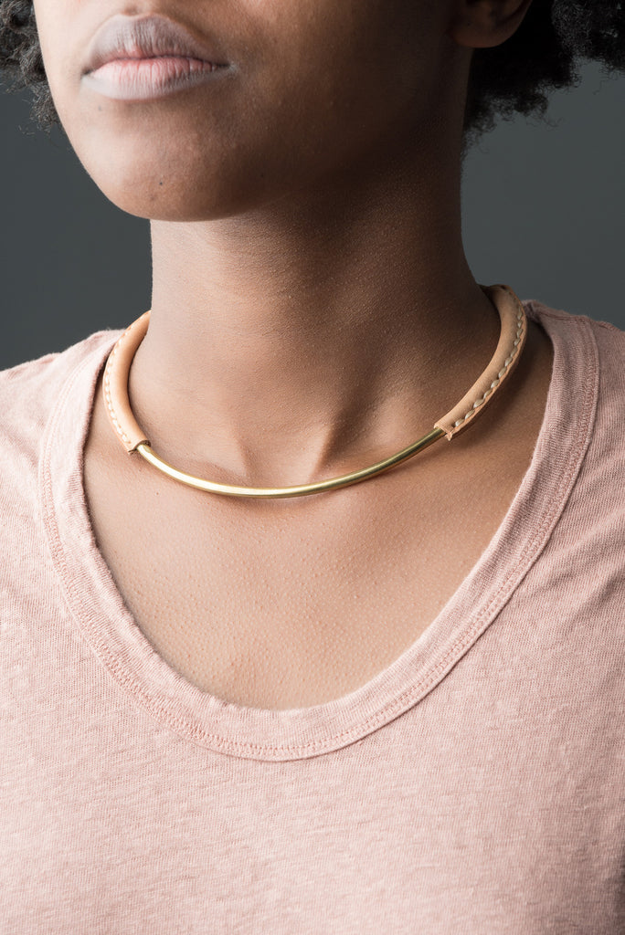 Mesa Necklace In Brass