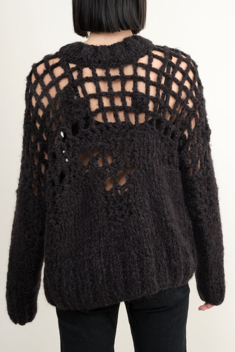 Hairy Hand Knit Sweater