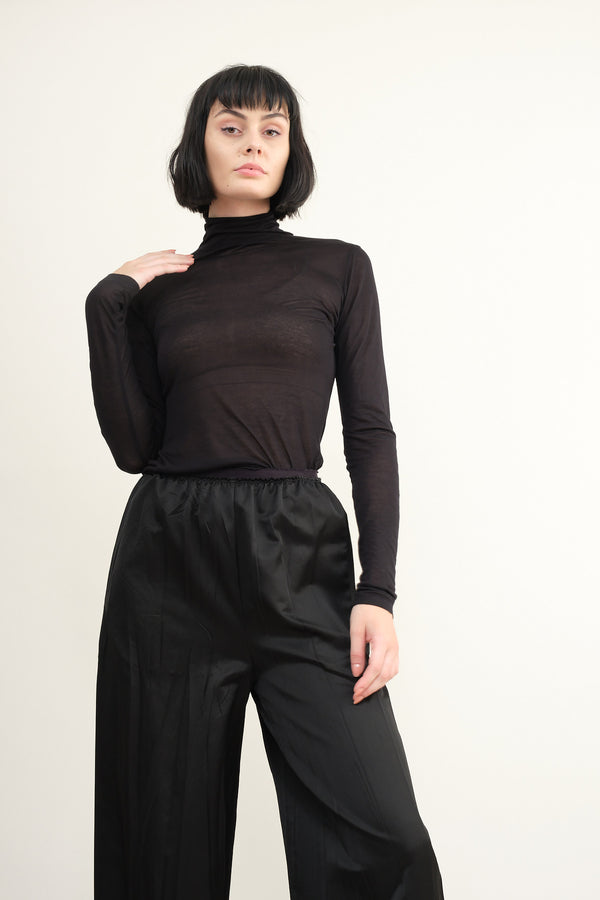 MM6 Maison Margiela semi-sheer turtleneck