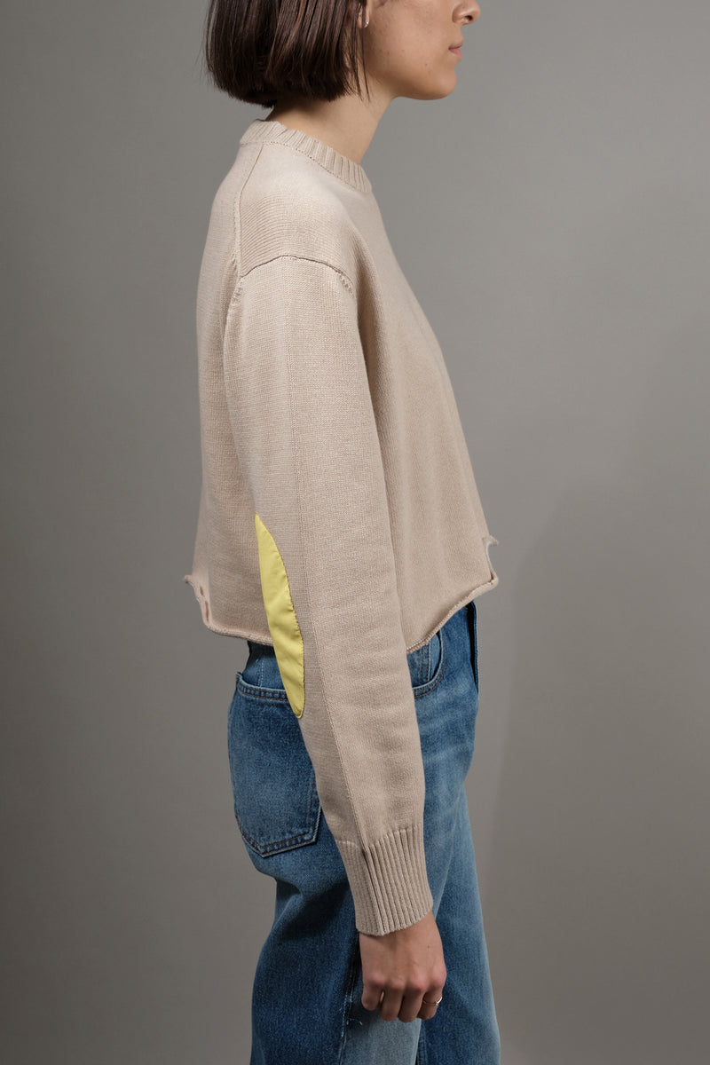 Yellow Elbow Patch Sweater