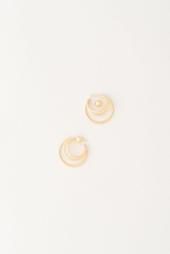 layered gold hoop earrings