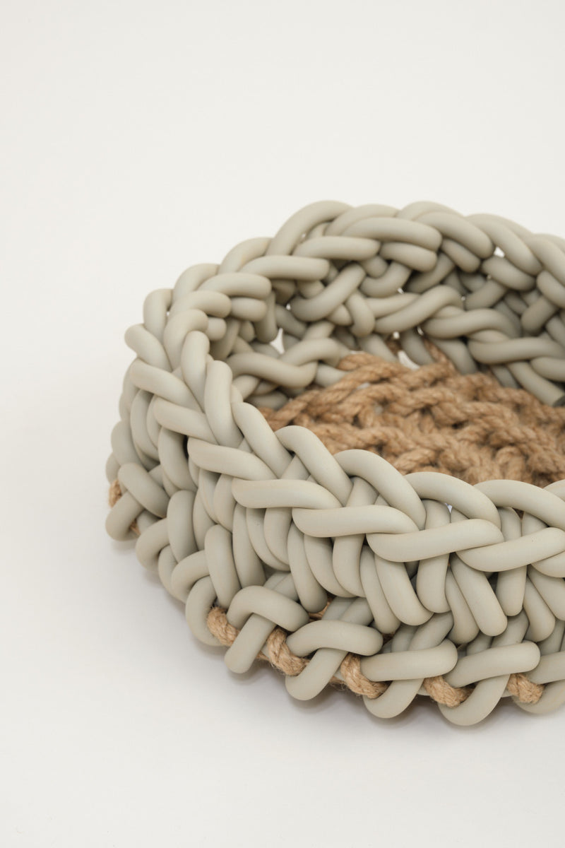 hand crocheted baskets home decor