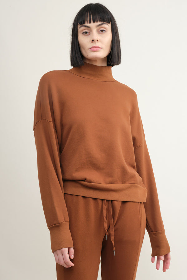 NSF clothing Cleo Mock Neck Sweatshirt