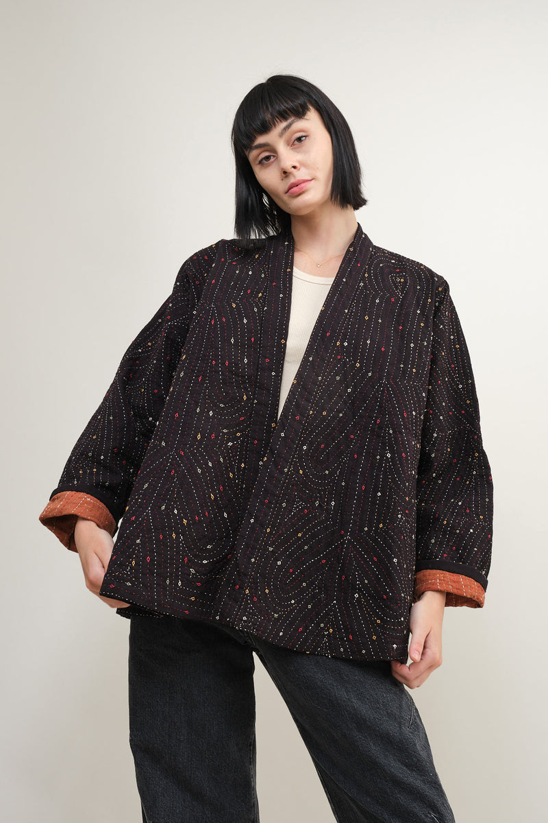 nymane quilted kala coat