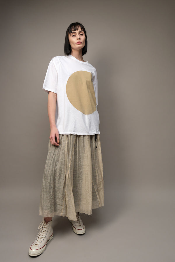 Pas De Calais Pleated Skirt in Beige