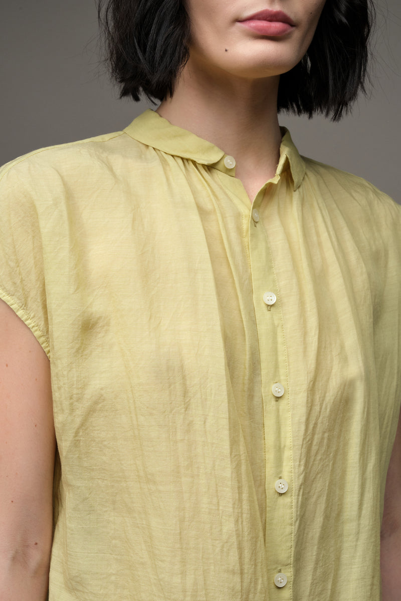 Short sleeve button up blouse