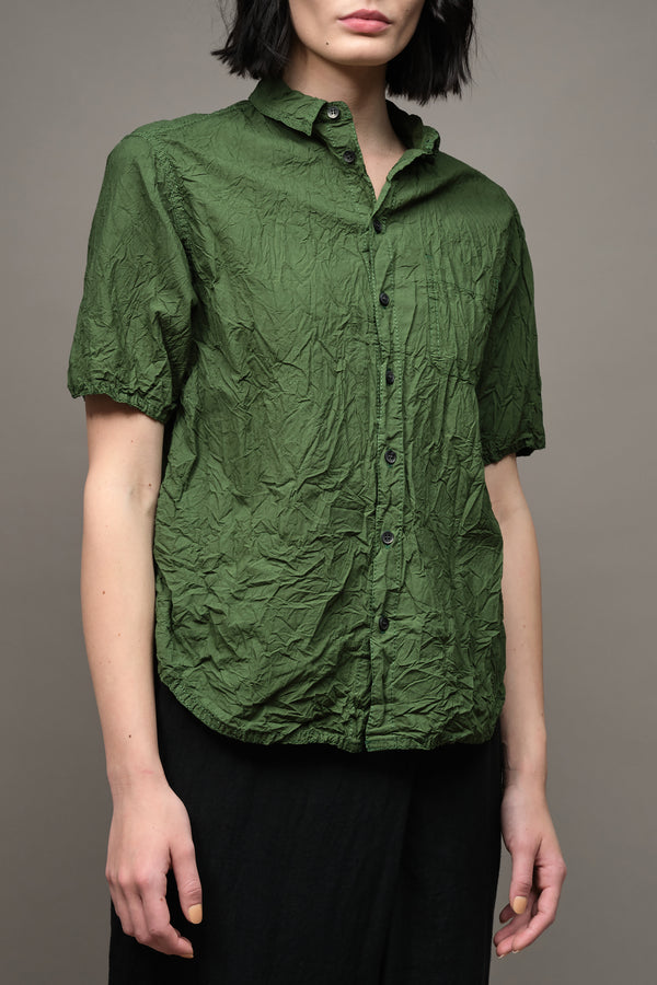 Wrinkle Finish Short Sleeve Blouse Pas De Calais