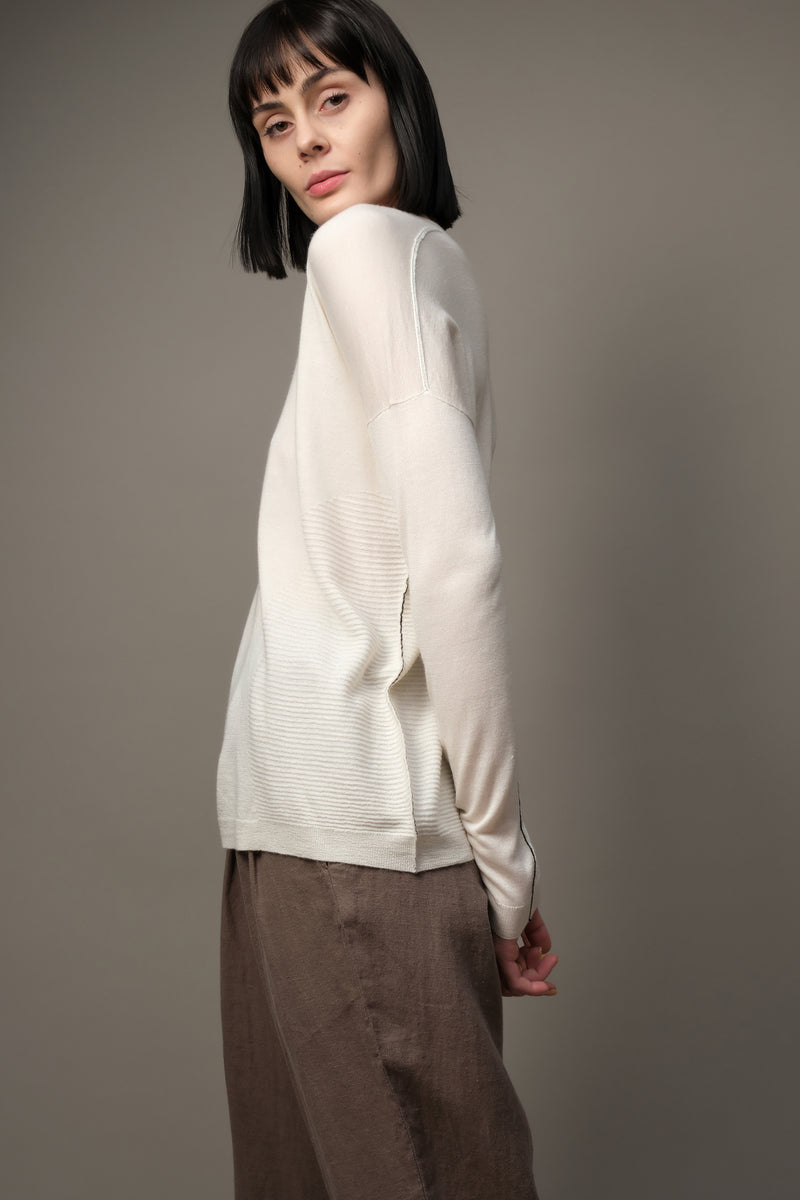Paychi Guh Long Sleeve Textured Crew