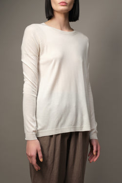 Long Sleeve Textured Crew Paychi Guh