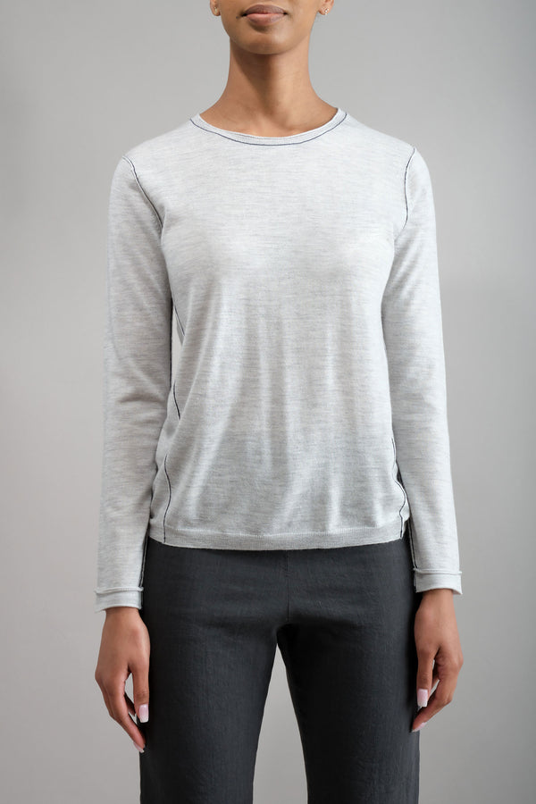L/S Baby Tee in Dove Grey Paychi Guh