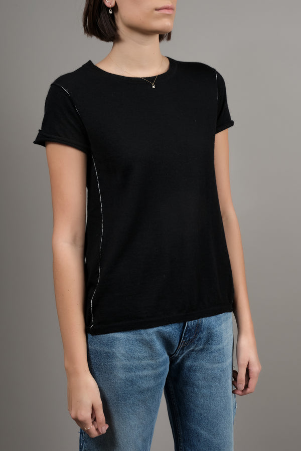 Baby Tee in Black Paychi Gu
