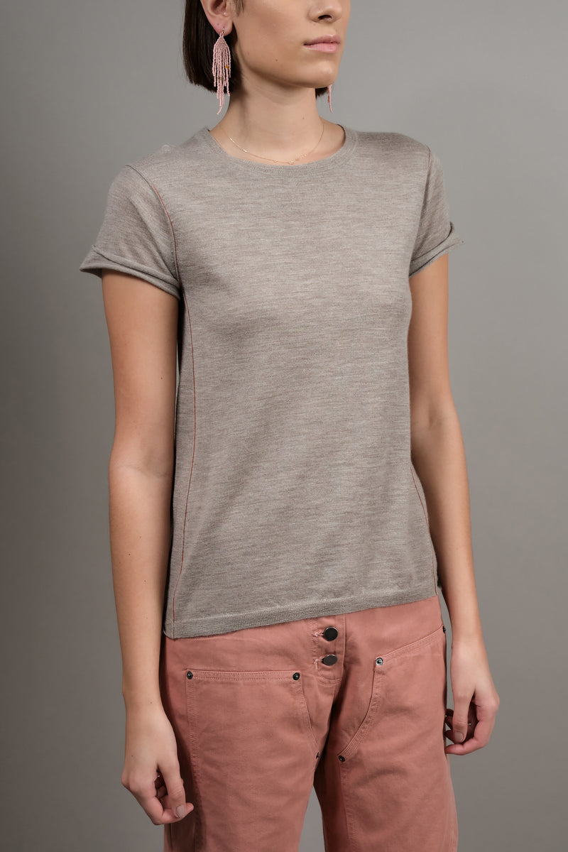 Paychi Guh Baby Tee in Walnut