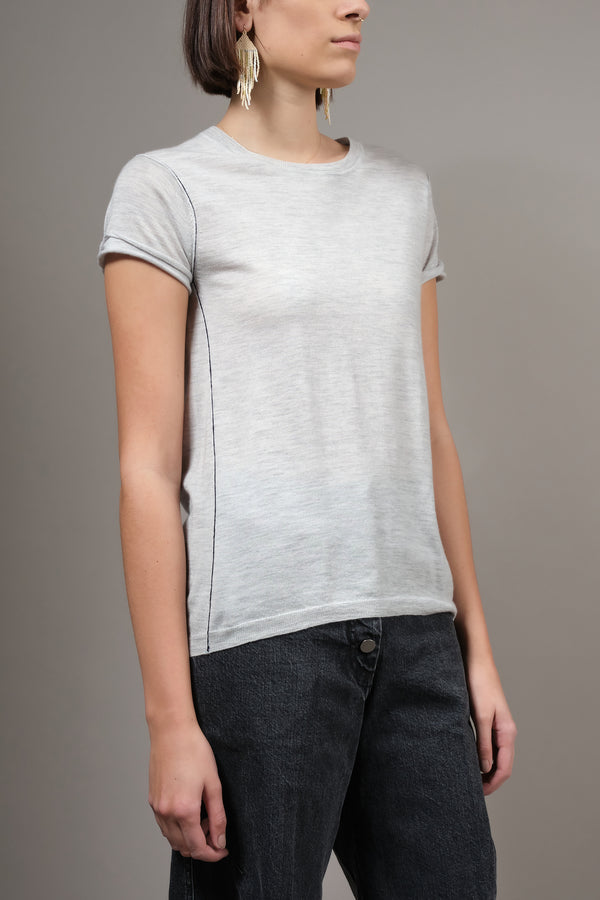 Baby Tee in Dove Gray Paychi Guh