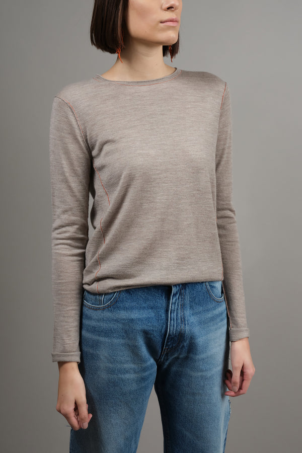 Long Sleeve L/S Baby Tee in Walnut Paychi Guh