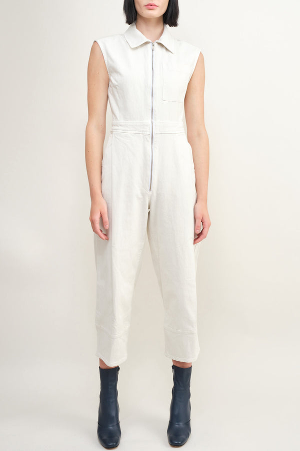white denim jumpsuit Rachel Comey