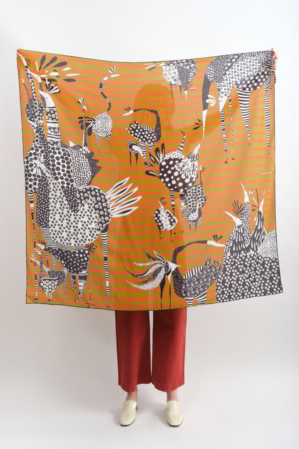 Rumisu Birds of a Feather Silk Scarf