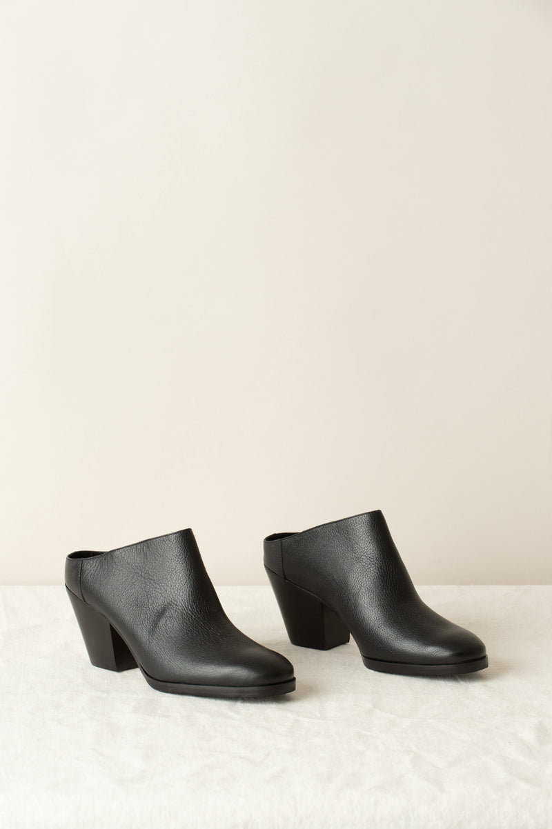 rachel comey black leather mule