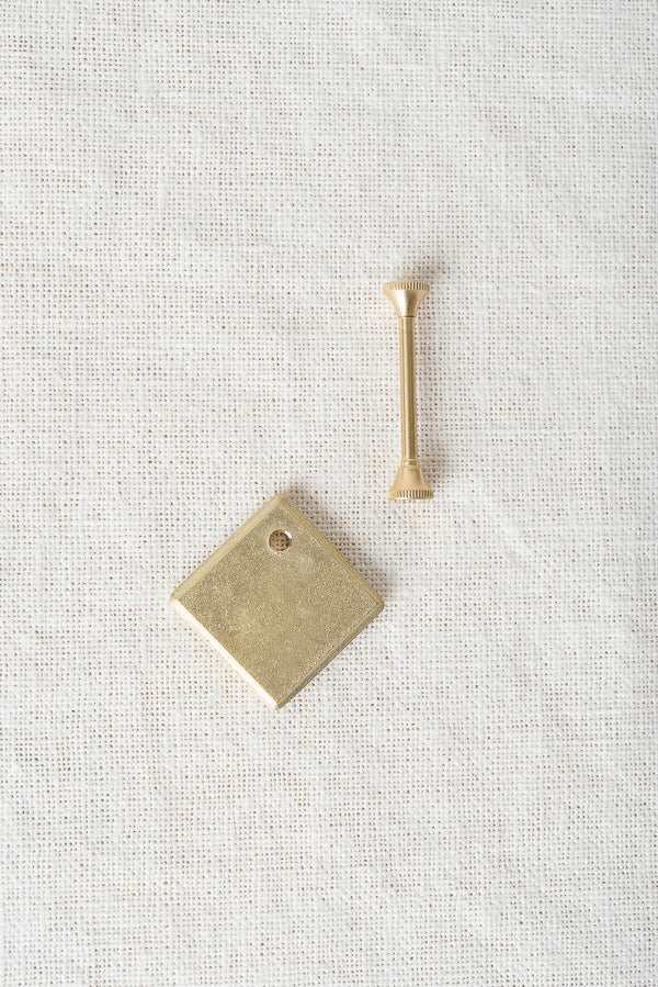 brass plate key ring