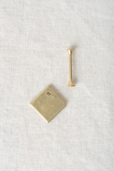 square brass key ring