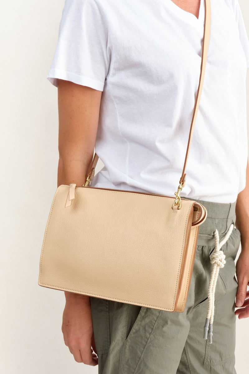Lotuff Leather Crossbody Purse