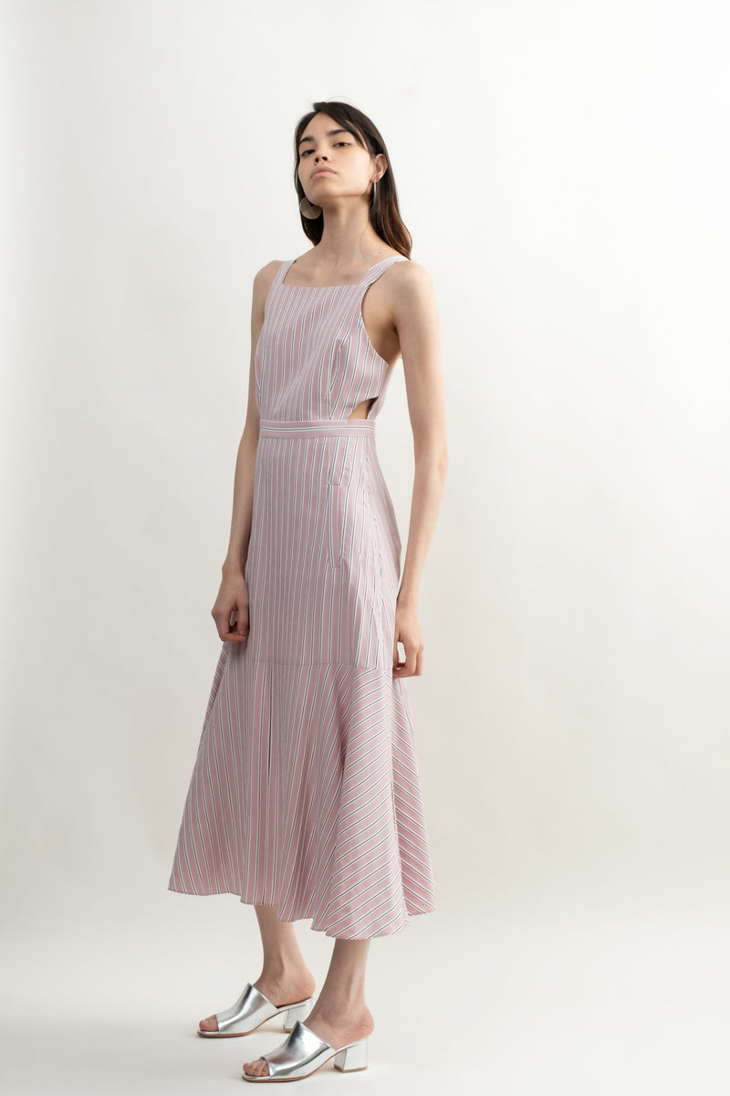 Tibi Twill Strappy Dress
