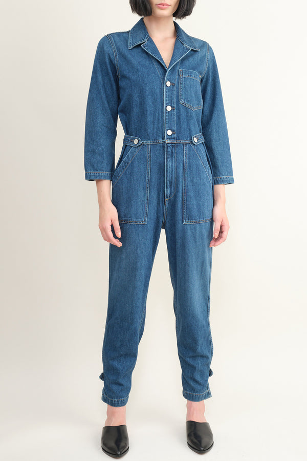 Trave denim jumpsuit
