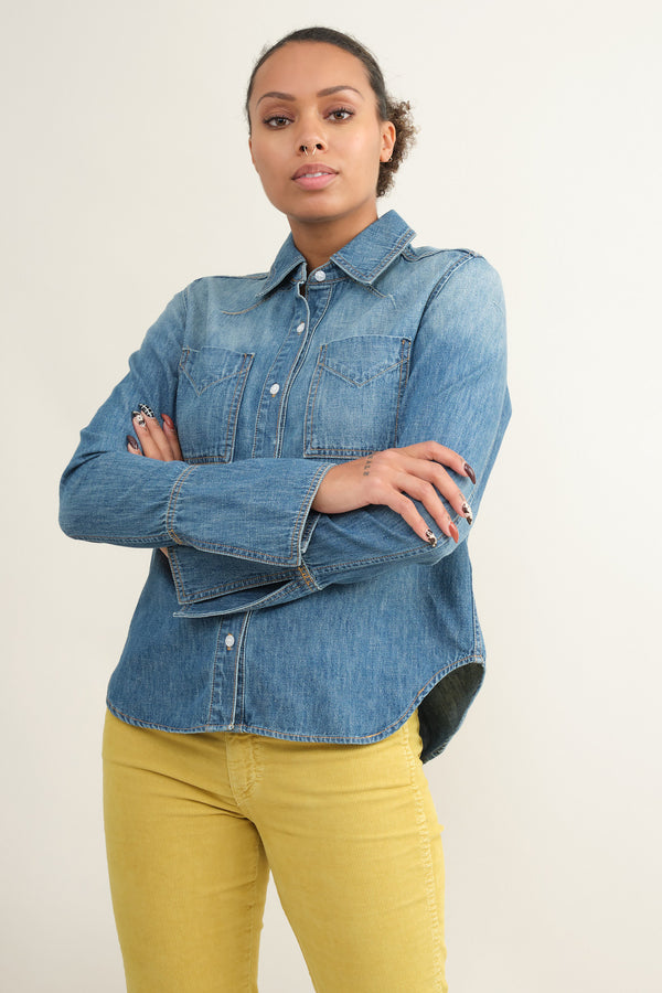 Trave denim octavia shirt