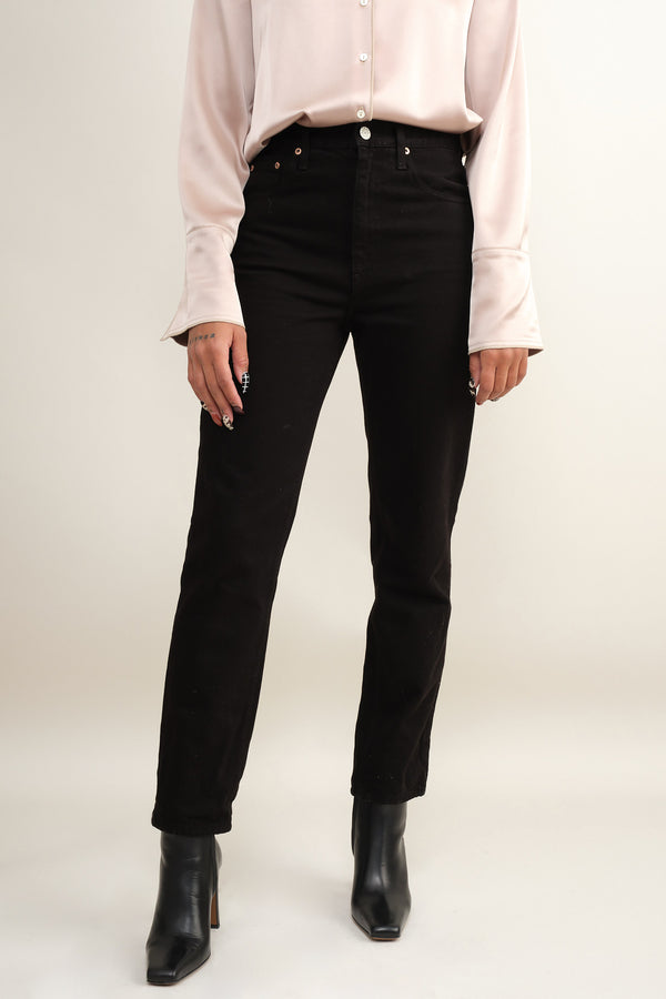 black high rise jeans Trave
